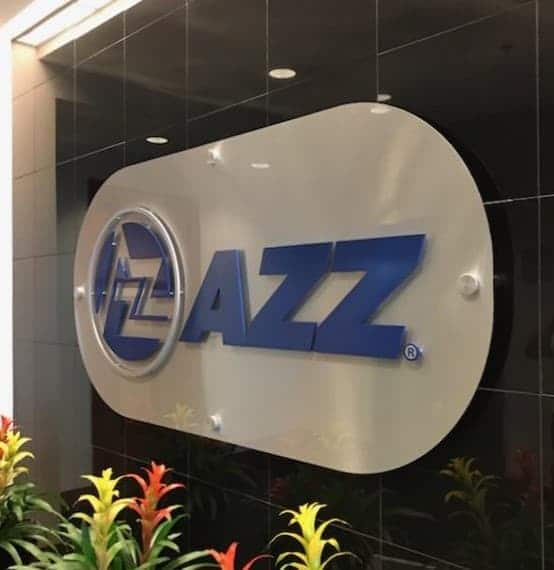 Fortune 500 Companies Brand Signage for Industry 1 AZZ Lobby Sign
