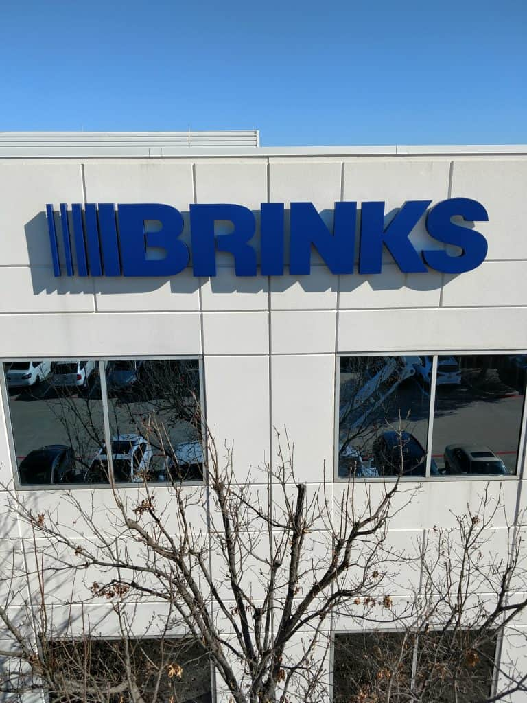 Fortune 500 Companies Brand Signage for Industry Cowtown Brinks