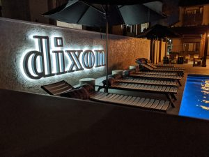 Dixon Reverse Lit Pool Letters | Illuminated Signs in Fort Worth, TX