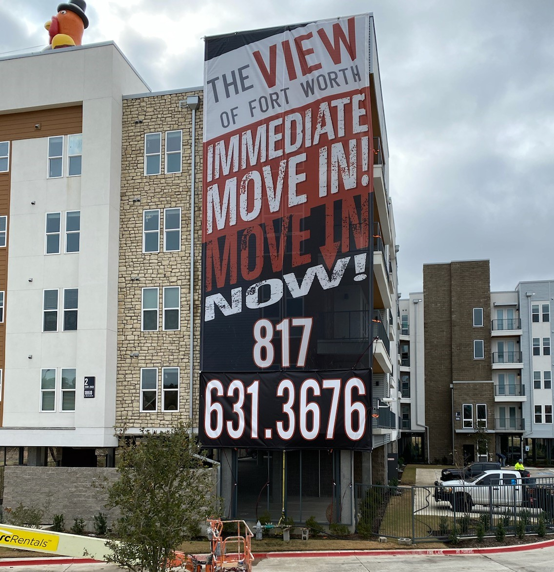 The View Banner | Multifamily Housing Signs