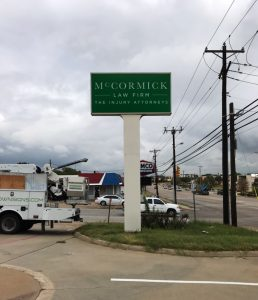 Pole Sign Reface McCormick Law   Home