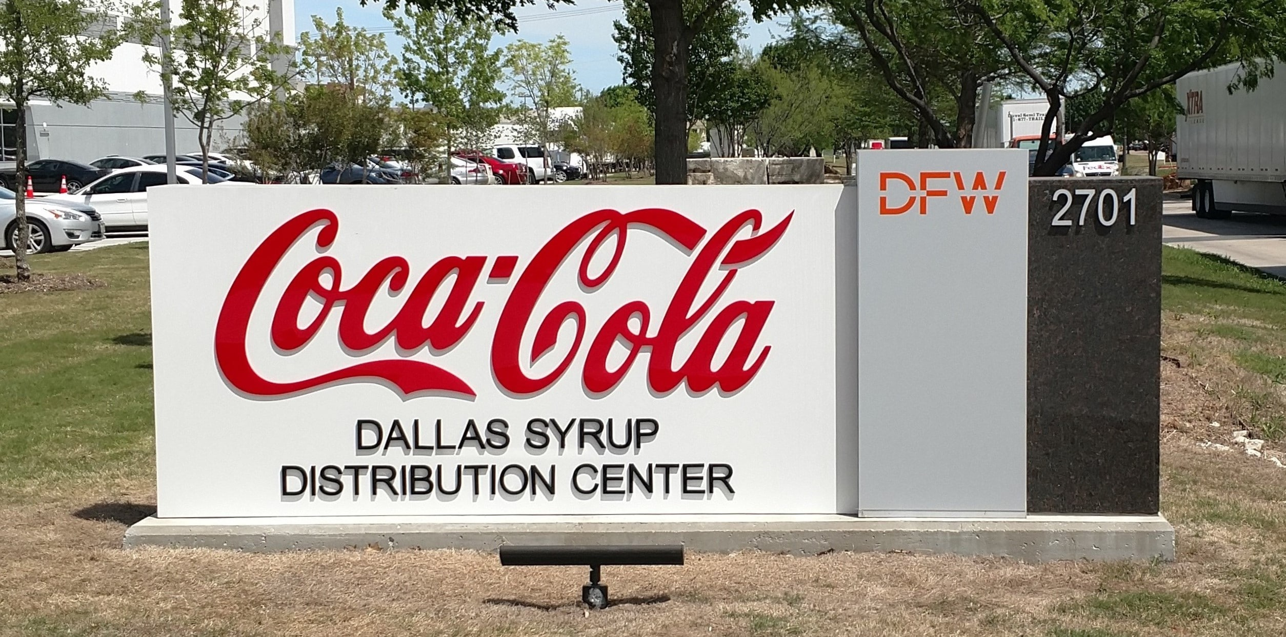 Fortune 500 Companies Brand Signage for Industry Cowtown Coca Cola Monument Sign