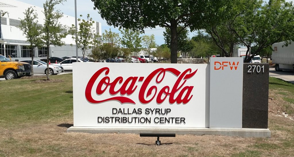 Visual Branding for the Fortune 500 3 Coca Cola Monument Sign