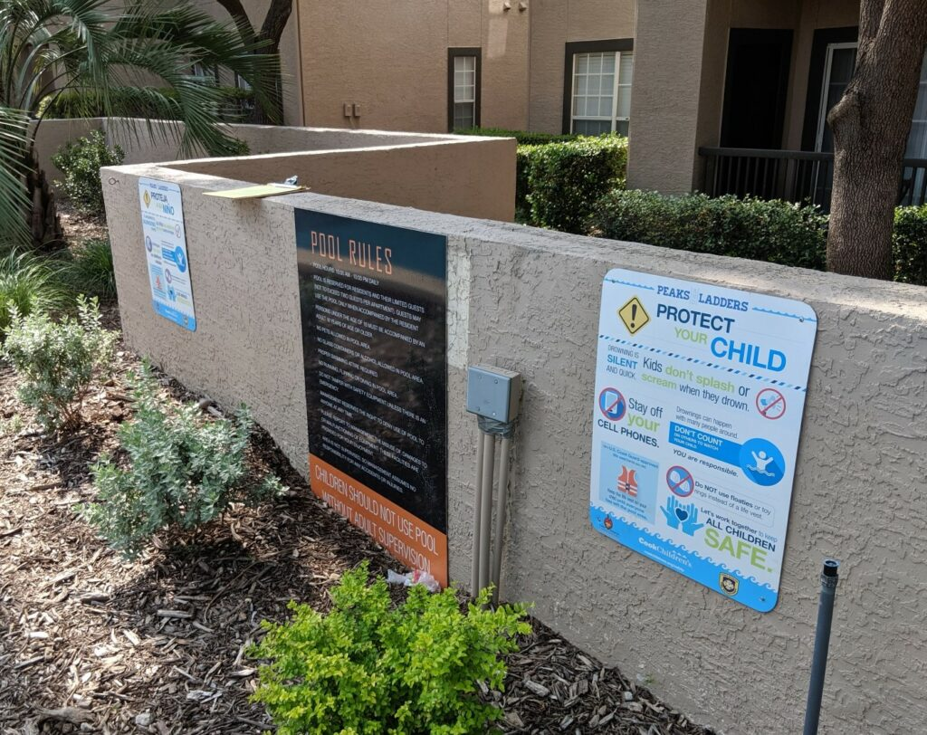 Safety Signs | Apartment Complex Signage for DFW Metroplex